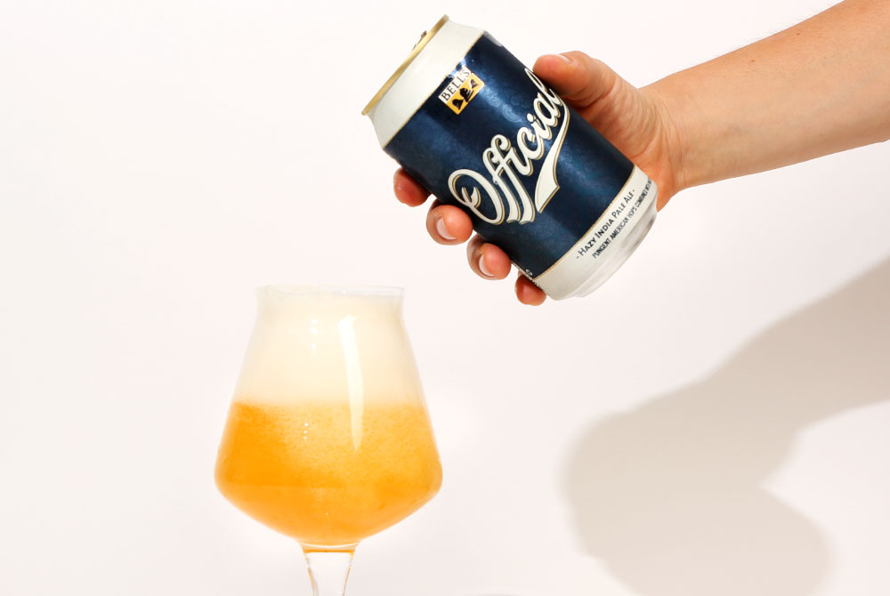 pouring a bells official hazy ipa