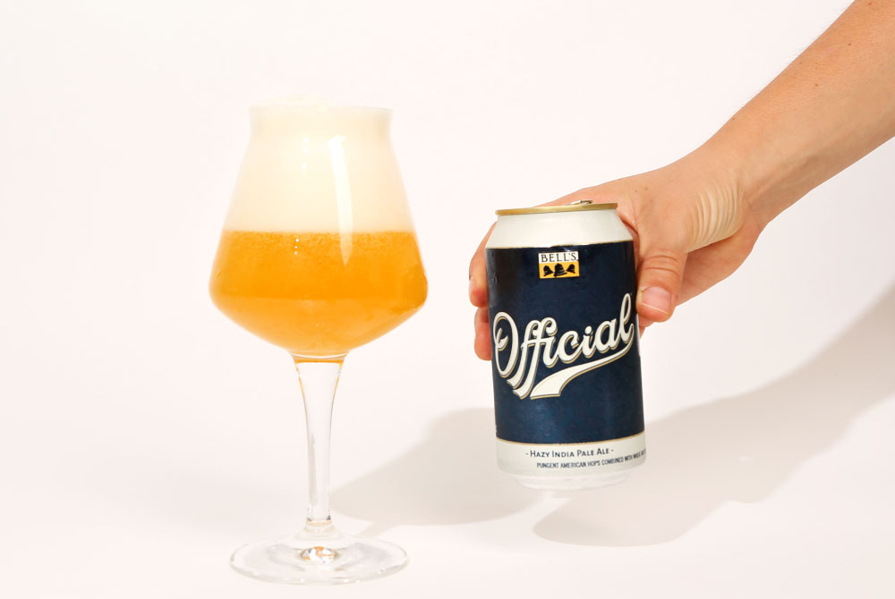 pouring bell's official hazy ipa